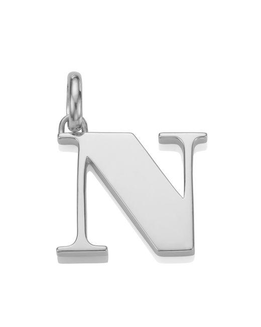 Monica Vinader - Metallic Alphabet N Pendant Charm - Lyst