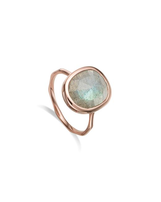 Monica Vinader - Pink Siren Medium Stacking Ring - Lyst