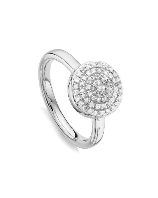 Monica Vinader - Metallic Fiji Large Button Stacking Ring - Lyst