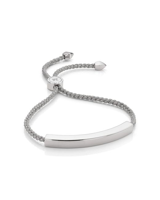 Monica Vinader - Metallic Linear Diamond Chain Bracelet - Lyst