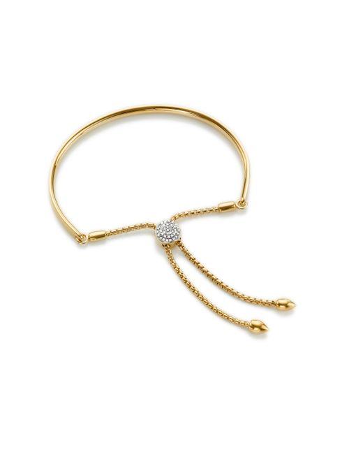 Monica Vinader - Metallic Fiji Diamond Toggle Petite Bracelet - Lyst