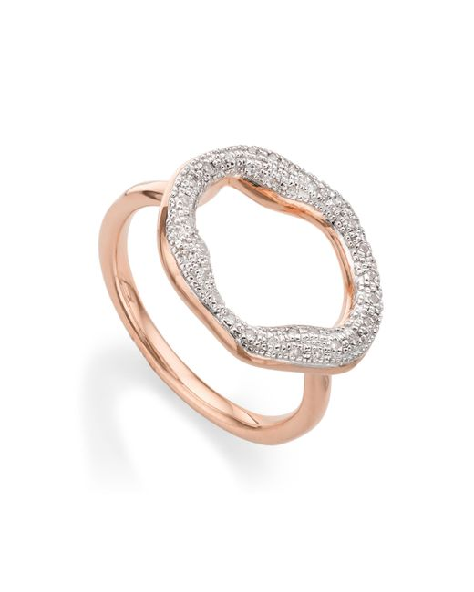 Monica Vinader   Metallic Riva Diamond Circle Ring   Lyst