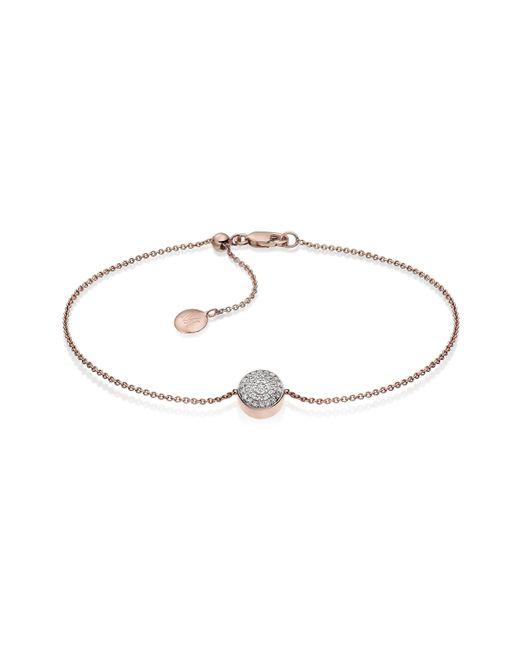 Monica Vinader | Pink Ava Button Bracelet | Lyst