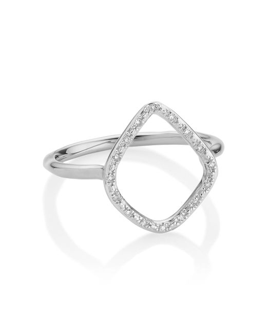 Monica Vinader | Metallic Riva Diamond Hoop Ring | Lyst