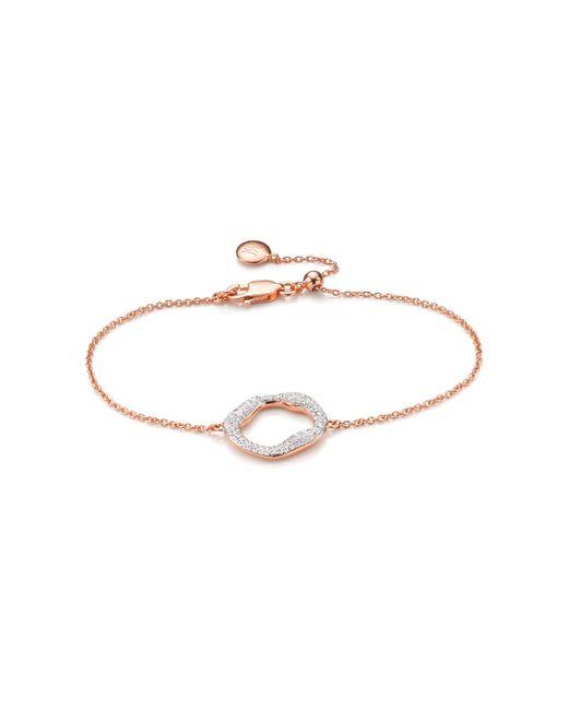 Monica Vinader - Metallic Riva Diamond Circle Chain Bracelet - Lyst