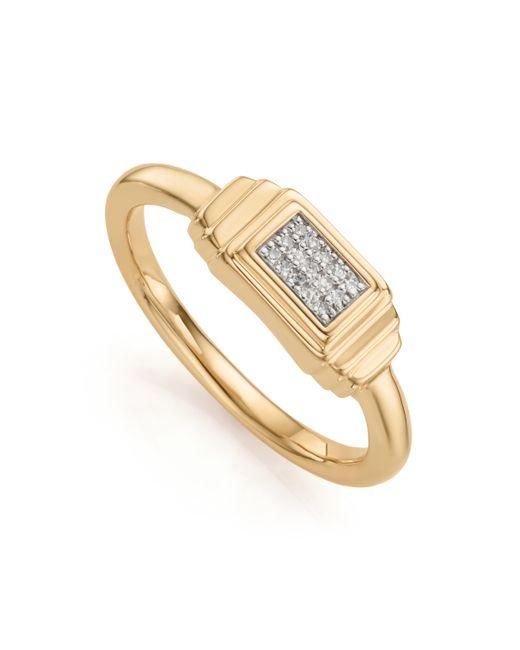 Monica Vinader - Metallic Baja Deco Diamond Ring - Lyst