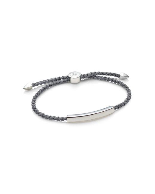 Monica Vinader | Gray Linear Men's Friendship Bracelet for Men | Lyst
