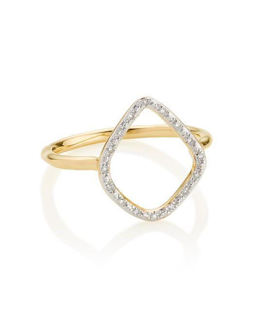 Monica Vinader | Metallic Riva Hoop Ring | Lyst