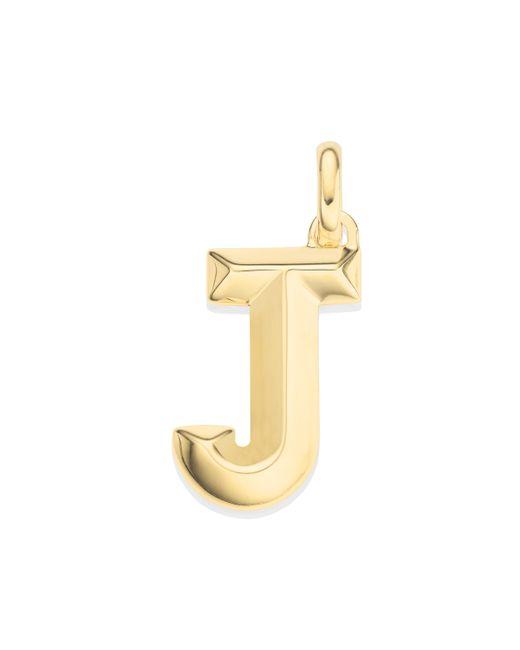 Monica Vinader - Metallic Alphabet J Pendant Charm - Lyst