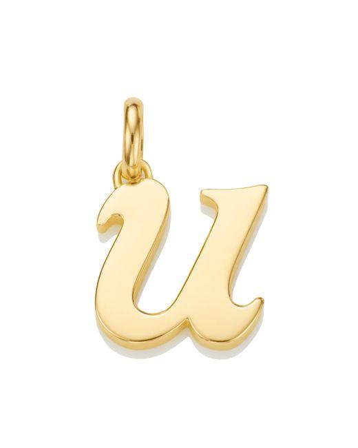 Monica Vinader | Metallic Alphabet Pendant U | Lyst
