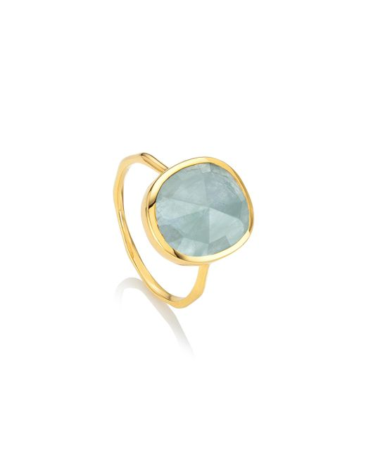 Monica Vinader | Blue Siren Medium Stacking Ring | Lyst