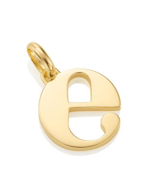 Monica Vinader - Metallic Alphabet Pendant E - Lyst