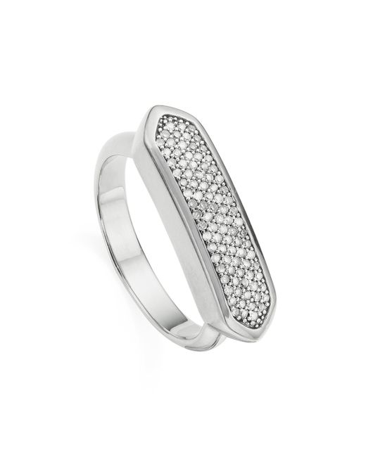 Monica Vinader - Metallic Baja Diamond Ring - Lyst
