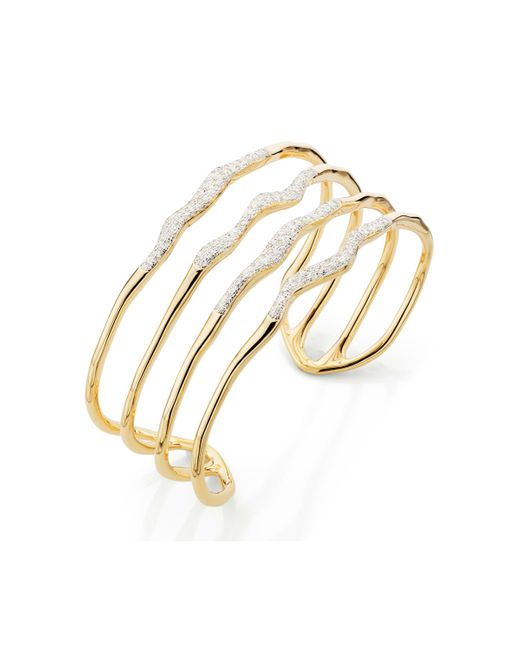 Monica Vinader - Metallic Riva Diamond Hero Wave Cuff - Lyst
