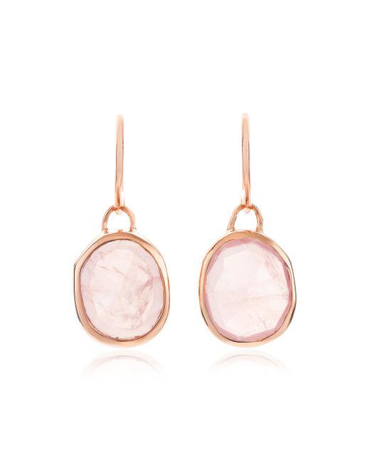 Monica Vinader - Pink Siren Wire Earrings - Lyst