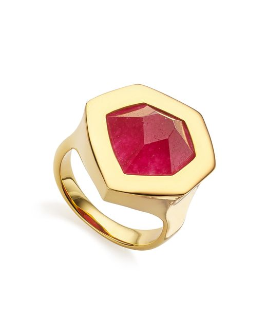 Monica Vinader | Pink Petra Cocktail Ring | Lyst