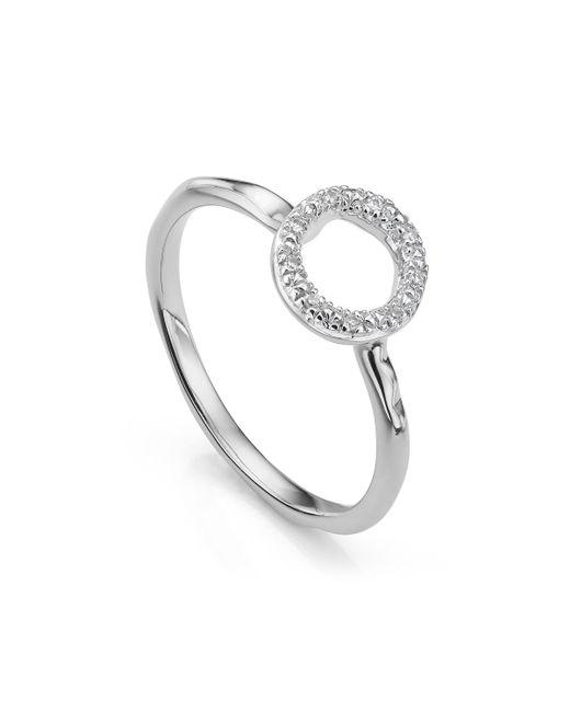Monica Vinader - Metallic Riva Mini Circle Stacking Ring - Lyst
