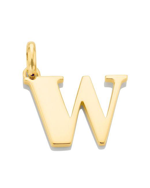 Monica Vinader - Metallic Alphabet Pendant W - Lyst