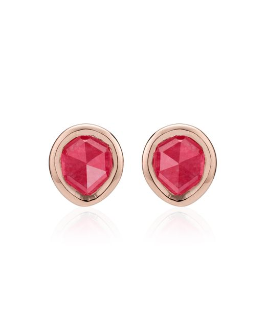 Monica Vinader - Pink Siren Mini Stud Earrings - Lyst