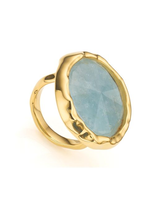 Monica Vinader | Metallic Siren Cocktail Round Ring | Lyst