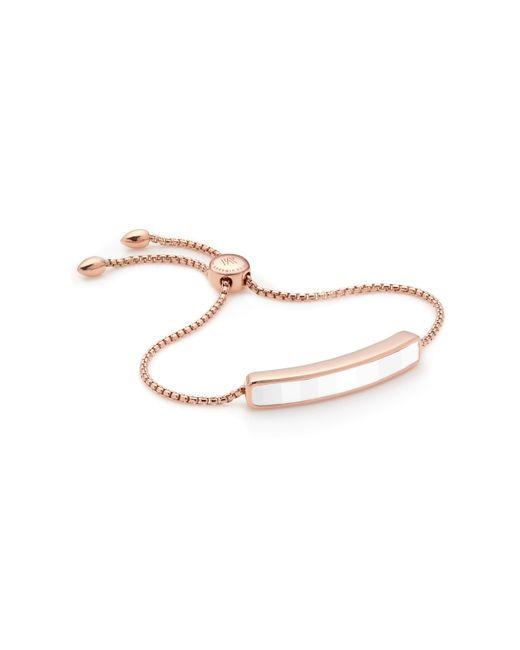 Monica Vinader - White Baja Bracelet - Lyst