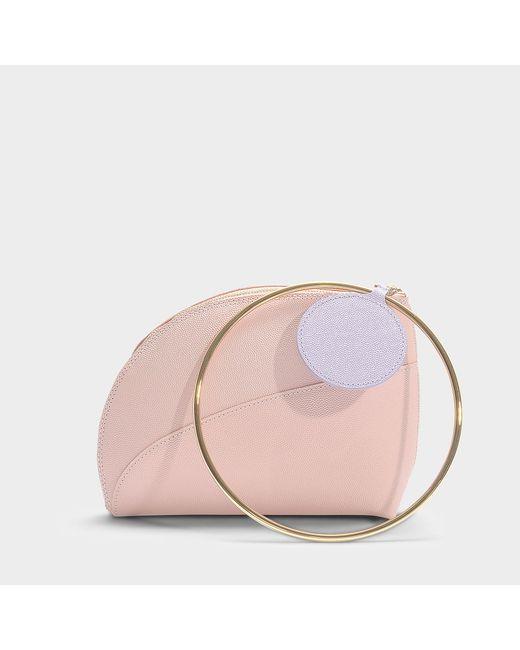 Roksanda - Pink Eartha Clutch In White Calfskin - Lyst