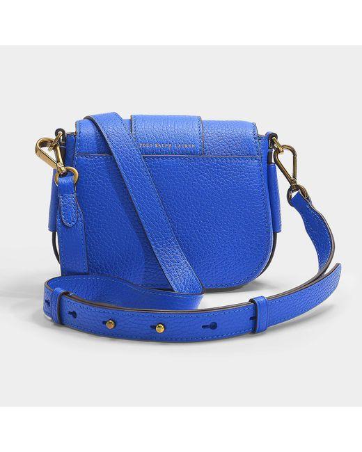 Crossbody Ralph Small Polo Lennox In Bag Lauren Pebble Cobalt Blue wTqpOI
