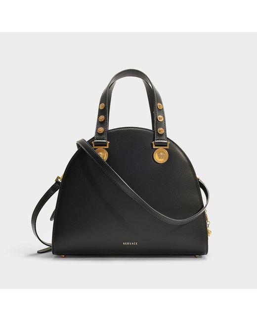 Lyst - Versace Tribute Bag In Black Calfskin in Black - Save 27% d1fb46abb99f8