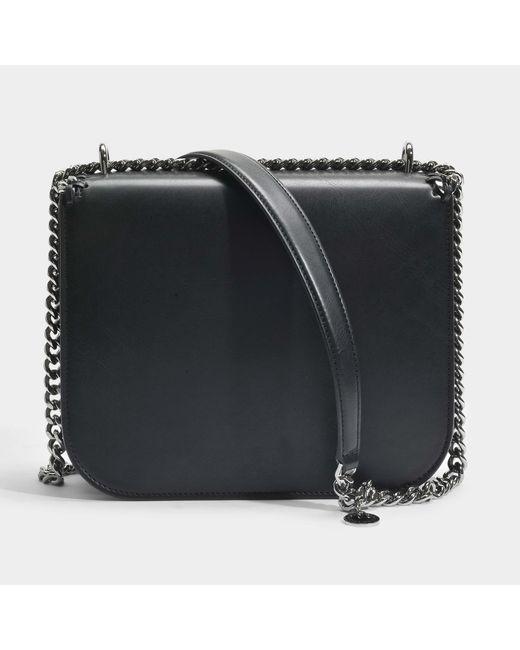 Eco Alter Nappa Medium Falabella Box Shoulder Bag in Ruby and Black Eco Leather Stella McCartney 1wVpb