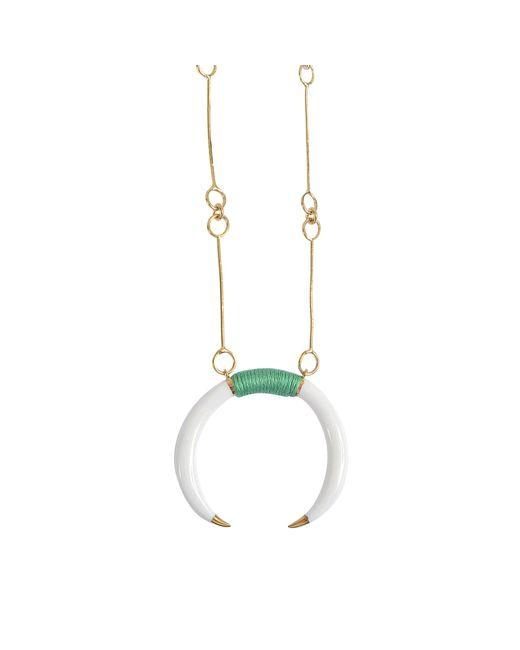 Aurelie Bidermann | Multicolor Caftan Moon Baby Horn Necklace | Lyst
