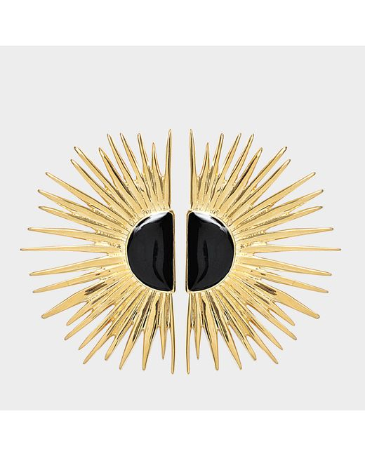 Aurelie Bidermann - Metallic Duchesse Pin Earrings With Enamel - Lyst