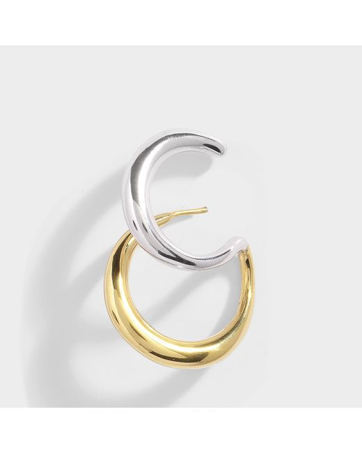 Charlotte Chesnais - Metallic Curl Mono Earring In Vermilion Gold And Silver Vermilion - Lyst