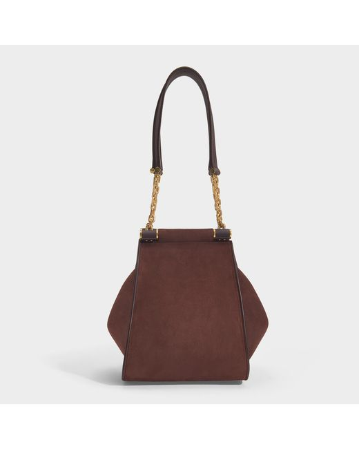 ff9d97fa0 Max Mara - Chain Small Tote Bag In Purple Suede With Details In Smooth Calf  Leather ...