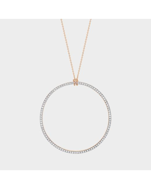 Ginette NY - Metallic Diamond Circle On Chain Necklace - Lyst