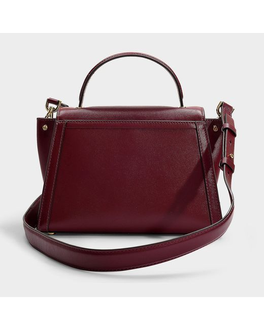 40892a64302c ... MICHAEL Michael Kors - Purple Whitney Medium Top Handle Satchel Bag In  Oxblood Calfskin - Lyst ...