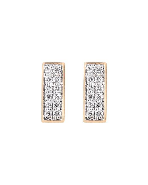 Ginette NY   Metallic Diamond Baguette Stud Earrings   Lyst