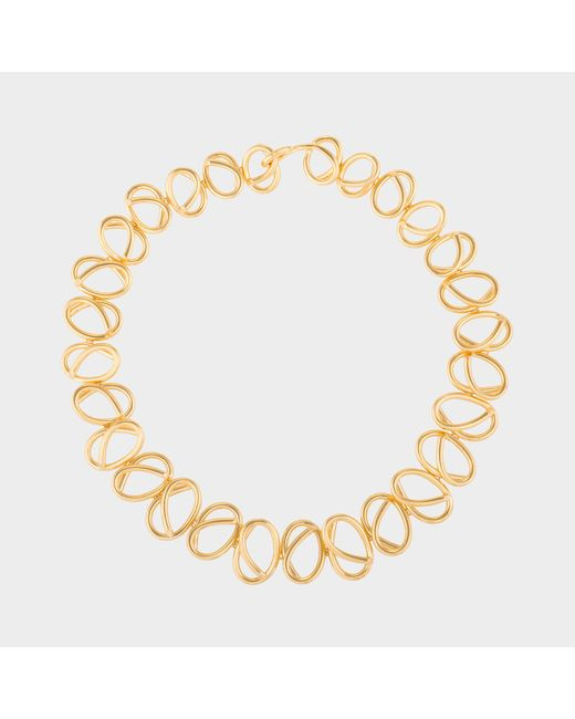 Joanna Laura Constantine - Metallic Gold Plated Knot Choker Necklace - Lyst