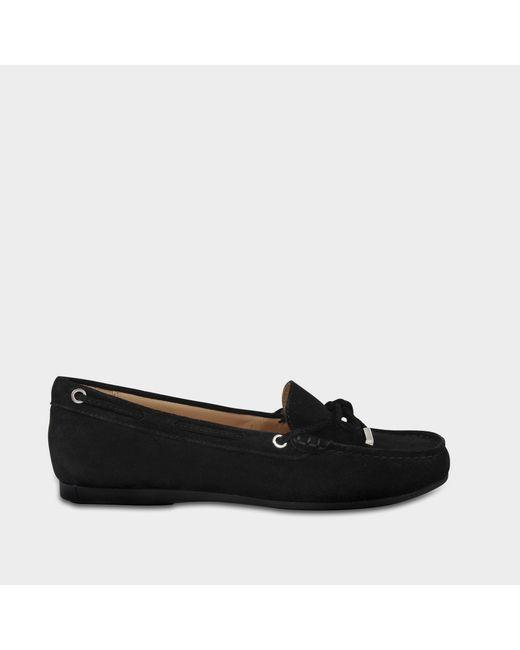 MICHAEL Michael Kors - Sutton Moc Shoes In Black Suede - Lyst