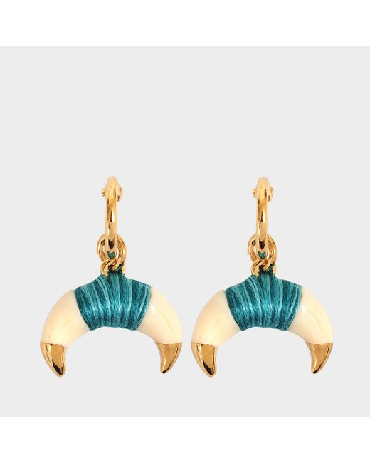Aurelie Bidermann - Green Takayama Earrings With Bakelite Gold Horn - Lyst
