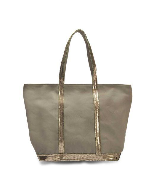 Vanessa Bruno - Multicolor Canvas And Sequins Medium + Zipped Tote Bag In Safari Cotton - Lyst