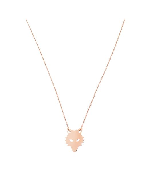 Ginette NY - Metallic Mini Wolf On Chain Necklace - Lyst
