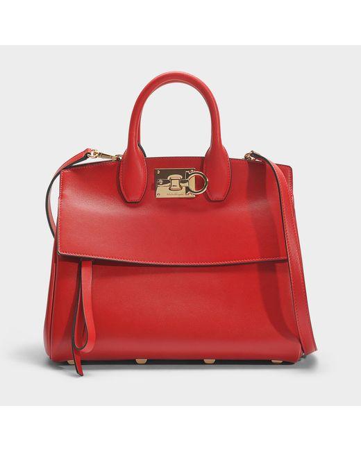 Ferragamo - Rhapsody Small Bag In Red Calfskin - Lyst