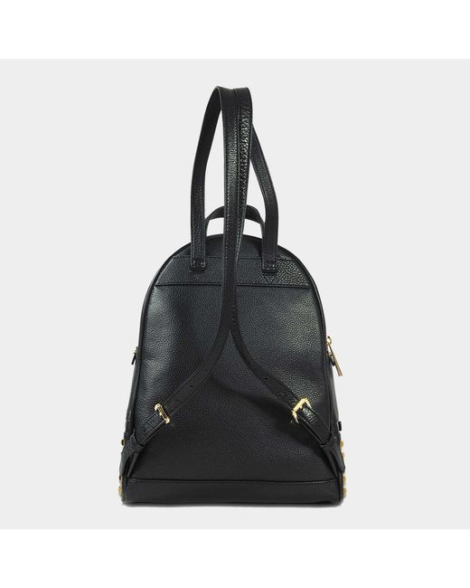e999e777a7 ... MICHAEL Michael Kors - Rhea Zip Medium Pyramid Studs Backpack In Black  Grained Calfskin - Lyst ...