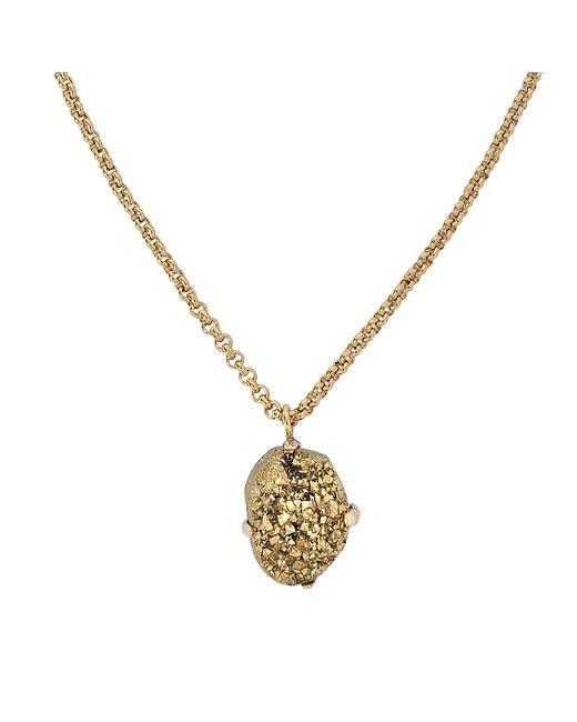 Christopher Kane - Metallic Stone Necklace - Lyst
