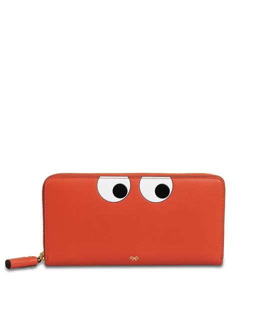 Anya Hindmarch - Red Large Zip Round Wallet Eyes In Circus - Lyst