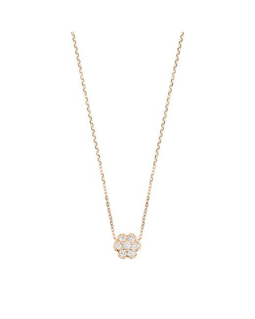Ginette NY | Metallic Lotus Mini Diamond Gold And Diamond Neckalce | Lyst