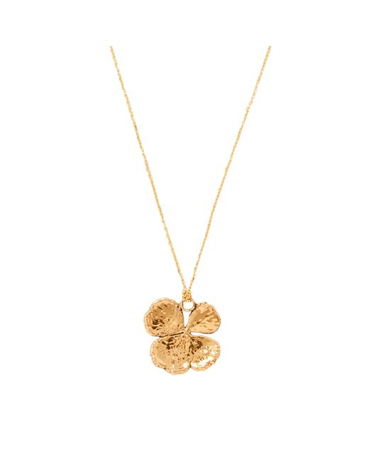 Aurelie Bidermann | Metallic Fine Jewellery - Natural Mini Clover 18 K | Lyst