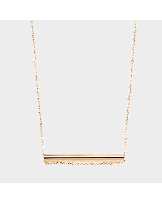 Ginette NY - Metallic Straw On Chain Necklace - Lyst