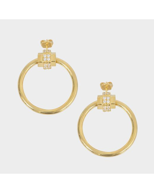 Joanna Laura Constantine - Metallic Nut Hoop Earrings - Lyst