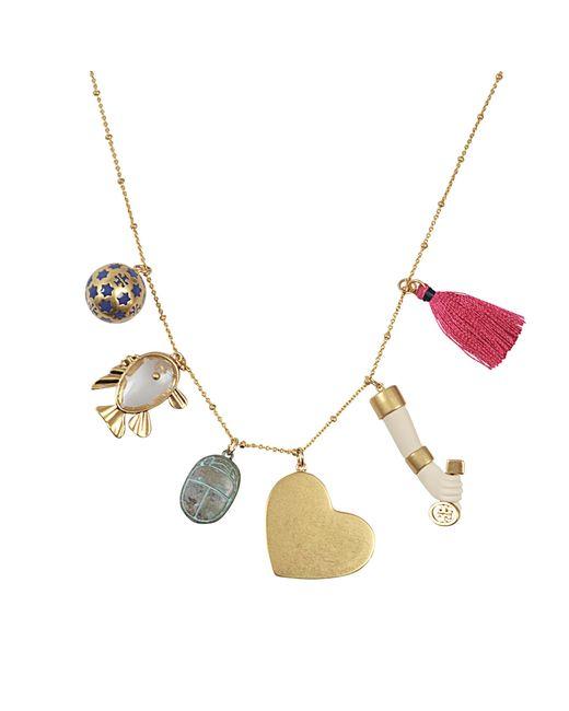 Tory Burch | Multicolor Charm Pendant Necklace | Lyst